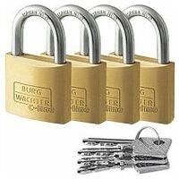 Cylinder lock set 4 pieces per set, shared keys