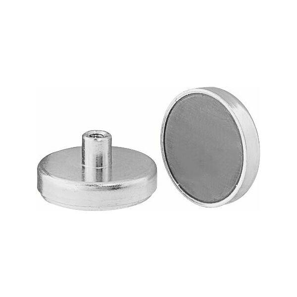 Flat magnet with internal thread  Ferrite