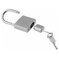 Precision cylinder lock with lock barrel, shared key
