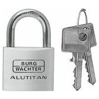 ALUTITAN padlock individual keys