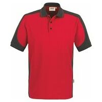 Polo Contrast Performance rouge