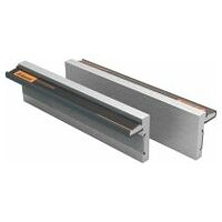 Pair of magnetic vice jaws Aluminium, smooth, standard