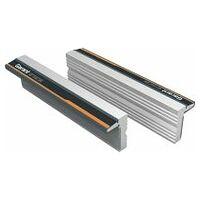 Pair of magnetic vice jaws Aluminium, profiled
