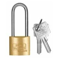Cylinder lock with tall shackle individual keys