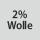 Gewebezusammensetzung 2% Wolle