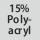 Gewebezusammensetzung 15% Polyacryl