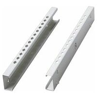 Mounting rails for shelves with tool sockets, pair
