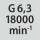 Wuchtgüte G bei Drehzahl G 6,3 bei 18000 min<sup>-1</sup>