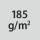 Materialgrammatur / Gewebedichte 185