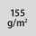 Materialgrammatur / Gewebedichte 155