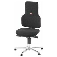 Swivel work chair ESD, fabric padding, with glides, low