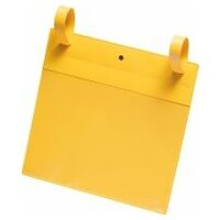 Yellow document pocket with fastening straps Pack of 50