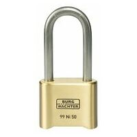 Combination lock with tall shackle