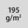 Materialgrammatur / Gewebedichte 195