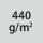 Materialgrammatur / Gewebedichte 440