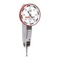 Swisstast lever dial indicator contact point length 12.5 mm with ruby ball