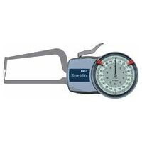 External quick caliper with dial gauge for pipes