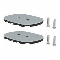 nivello®-Fußplatte für Gitterroste 126x89 mm