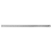 Flexible steel rule narrow, stainless matt finished