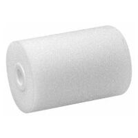 Foam roller for sealants and adhesives