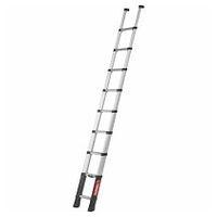 Stufen-Anlegeleiter mögliche Stufenanzahl 9, 13, für kleine Stauräume, mit Teleskopfunktion
