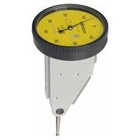 Lever dial indicator with horizontal dial contact point length 17.4 mm