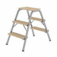Stahl-Holz-Tritt 2x3 Stufen