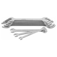 Set di chiavi a forchetta doppia  esecuzione cromata