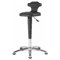 Sitting-standing stool – ESD, PU foam, with glides