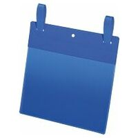 Blue document pocket with fastening straps Pack of 50