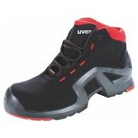 Chaussures hautes noires/rouges uvex 1 x-tended support, S3