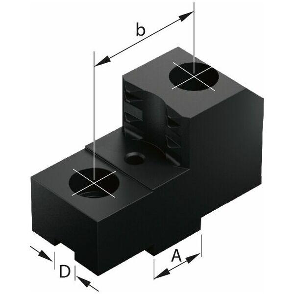 Bakker med kløer, sæt 3 dele, til patroner  ⌀ 315 mm