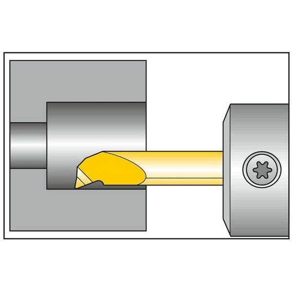 Boring-out insert, internal, right-hand  L<sub>1</sub> = 16 mm