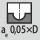 Indgrebsbredde a<sub>e</sub> ved fræsning 0,05×D ved kopifræsning