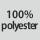 Tekstilsammensætning 100% polyester