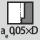 Indgrebsbredde a<sub>e</sub> ved fræsning 0,05×D ved beskæring