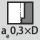 Indgrebsbredde a<sub>e</sub> ved fræsning 0,3×D ved beskæring