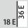 Fyldningsgrad for en skuffe i E 18×36