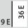 Fyldningsgrad for en skuffe i E 9×36