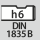 Skaft DIN 1835 B med h6
