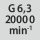 Afbalanceringsgrad G ved omdrejningstal G 6,3 ved 20000 min<sup>-1</sup>