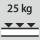 Fachboden Tragfähigkeit / maximale flächenverteilte Fachlast (auf Metall) 25