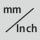 Ablesung umschaltbar mm / Inch