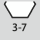 Nøgleviddeområde, sekskantet skruenøgle 3-7