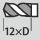 Bohrtiefe bis 12×D