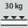 Fachboden Tragfähigkeit / maximale flächenverteilte Fachlast (auf Metall) 30