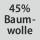 Gewebezusammensetzung 45% Baumwolle