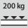 Fachboden Tragfähigkeit / maximale flächenverteilte Fachlast (auf Metall) 200