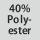 Gewebezusammensetzung 40% Polyester