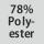 Gewebezusammensetzung 78% Polyester